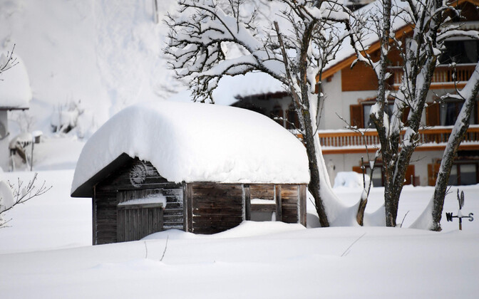 Saksamaal Ruhpoldingus on viimastel päevadel maha sadanud väga palju lund