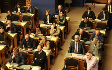 Riigikogu sitting. Image is illustrative