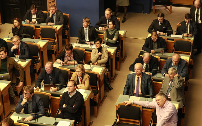 Riigikogu sitting. Image is illustrative