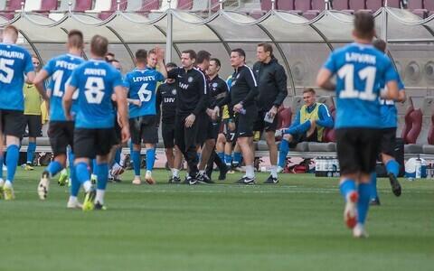 Сборная Эстонии опробовала стадион будущего ЧМ по футболу.