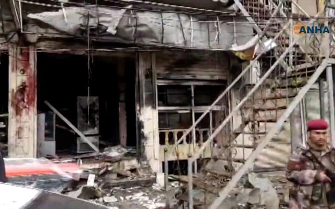 Sündmuskoht Manbiji linnas.