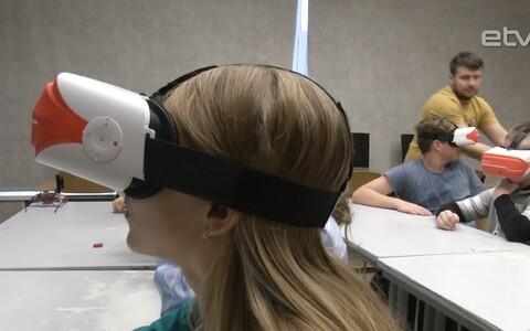 Очки виртуальной реальности в Нарвской школе