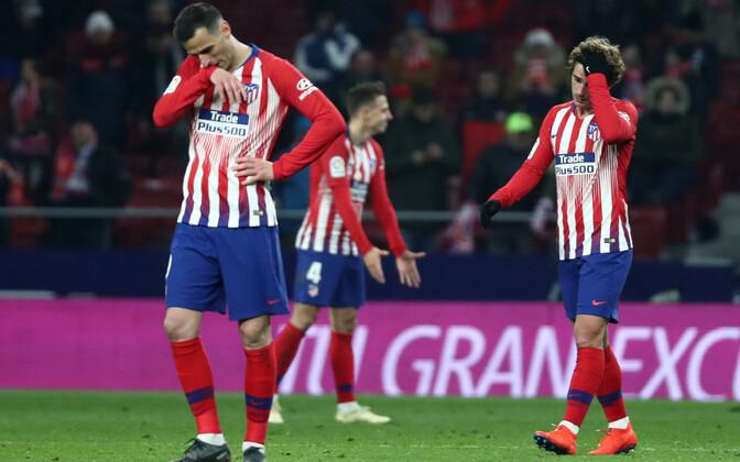 Madridi Atletico mängijad kaotusevalu tundmas
