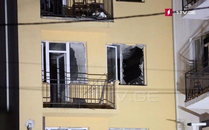 Фотография с места происшествия в Тбилиси.
