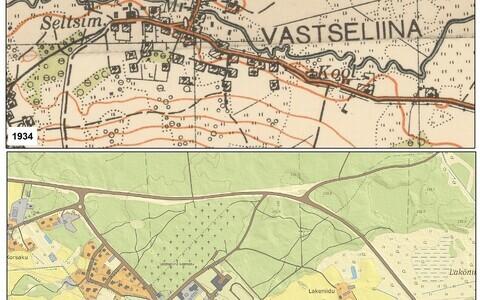 Maastikumuutustest saab aimu võrreldes vanu ja tänapäevaseid kaarte.