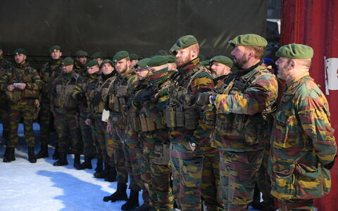 The Belgian contingent joined the NATO battle group in Tapa on 17 January.