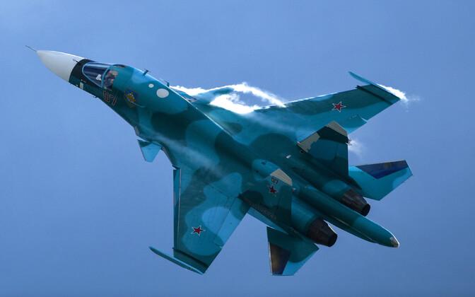 Venemaa sõjalennuk Su-34.