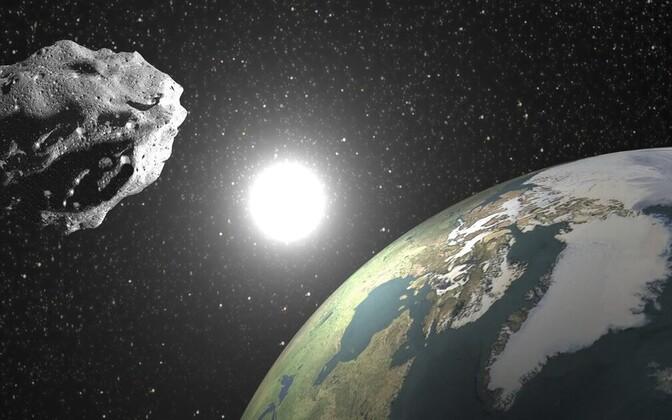 Asteroid kunstniku nägemuses.