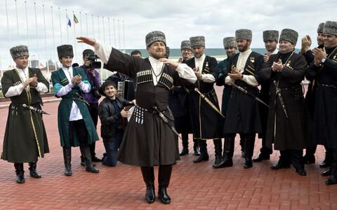 Глава Чечни Рамзан Кадыров на празднике в 2011 году.