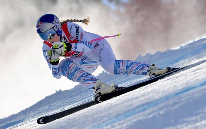 Lindsey Vonn naasis Cortinas võistlusradadele.
