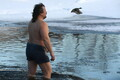 Крещенские купания в Нарве 19 января 2019 года.