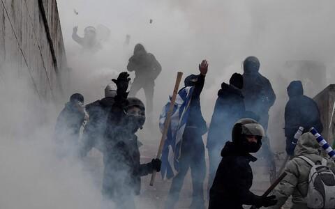 Протесты в Афинах.