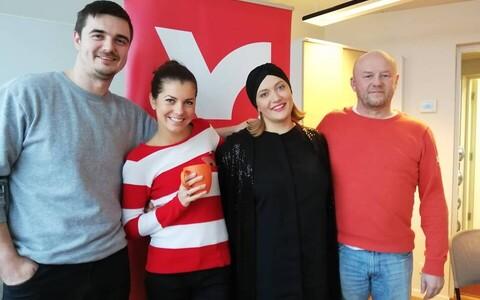 Birgit, Sofia Rubina ja Priit Pajusaar.