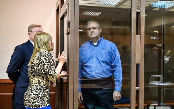 Paul Whelan Moskva kohtus 22. jaanuaril.