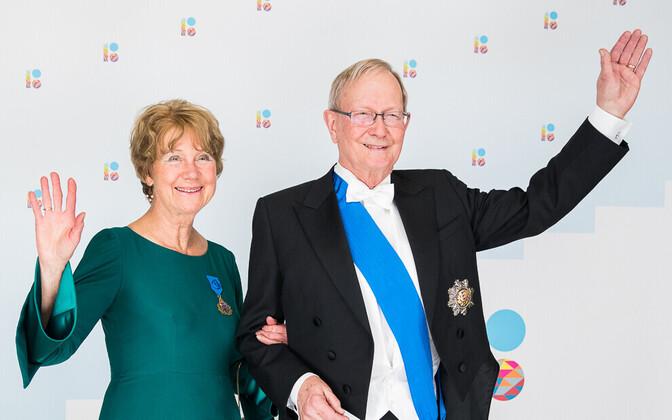 Мари-Анн Келам и её муж - депутат Европарламента Тунне Келам.