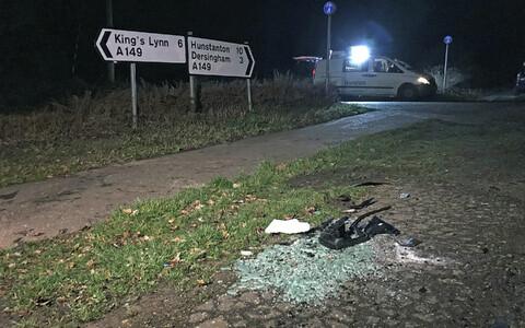 Prints Philipiga seotud avarii sündmuskoht Norfolki krahvkonnas.