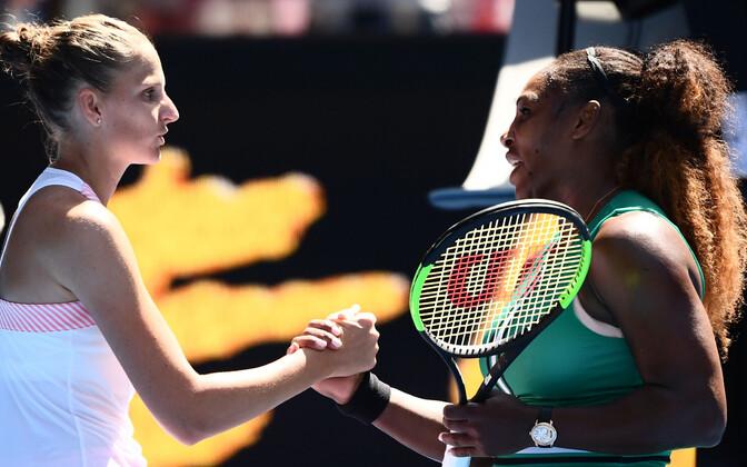 Karolina Pliškova ja Serena Williams,