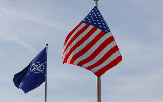 NATO ja USA lipp.