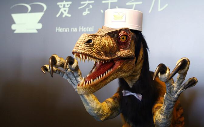 Robot-Velociraptor ei saanud koopiamasina käsitsemisega hakkama kuigi hästi.