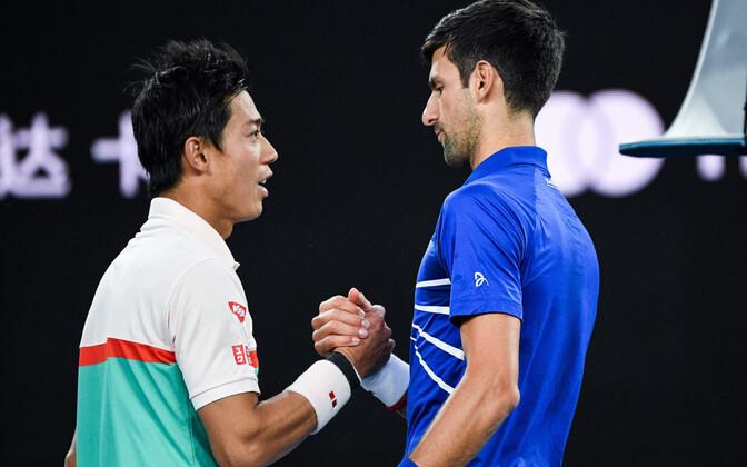Kei Nishikori ja Novak Djokovic