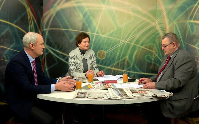 Mart Luik, Urmi Reinde ja Mart Ummelas Tallinna TV ühes legendaarsemas saates