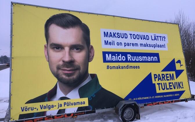 Reformierakonna välireklaam Lätis.