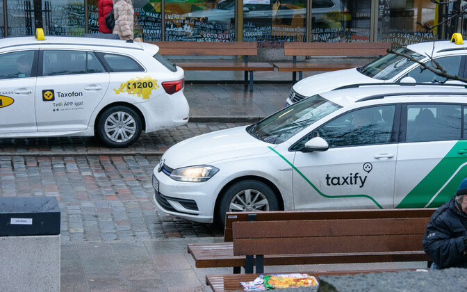 Taxify-liveried taxis in Tallinn.