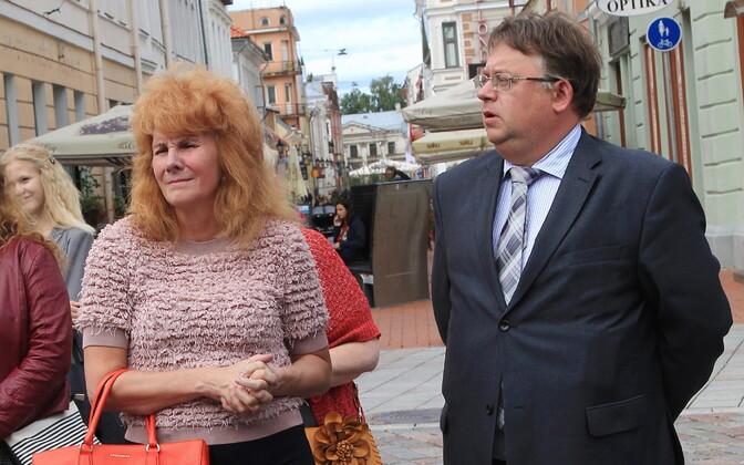 Теа Варрак и Март Лайдметс в Тарту в 2017 году.