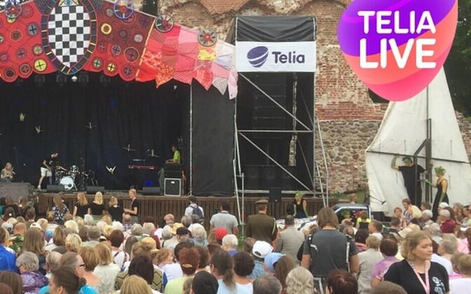 Telia LIVE TV näitas ülekandeid Viljandi pärimusmuusika festivalilt