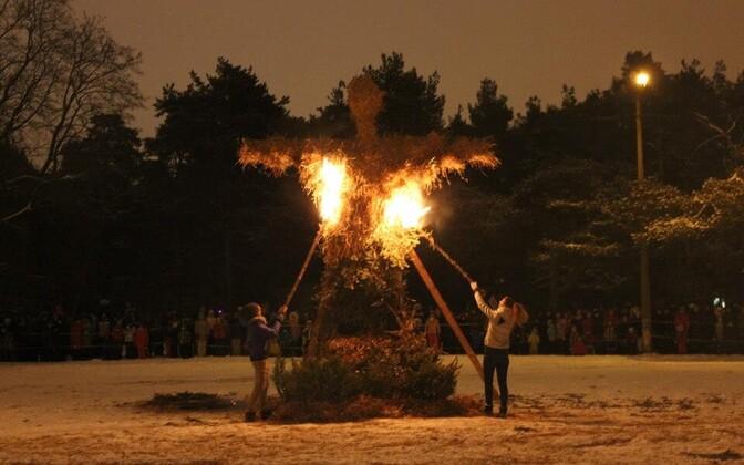 Фестиваль света в Мустамяэ.