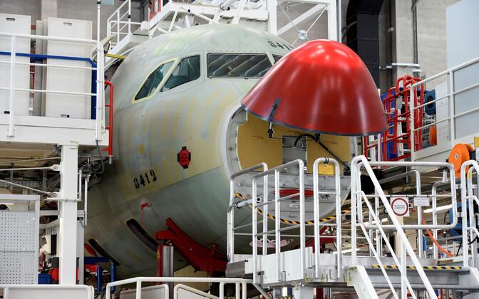 Airbusi tehas Hamburgis.