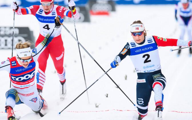 Seda spagaati tehes sai Stina Nilsson (vasakul) vigastada.