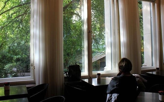 Viivi Luik Berliini kirjandusmajas 8. oktoobril 2018