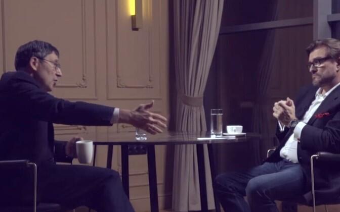 Endise USA suusrsaadiku John Herbsti intervjuu telekanalis Prjamõi.