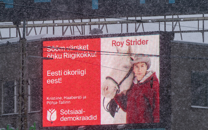 Roy Strideri valimisreklaam.