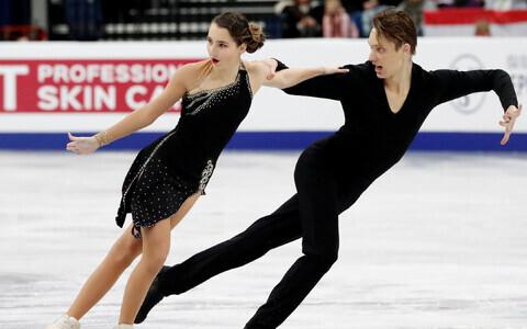 Katerina Bunina ja German Frolov EM-il.