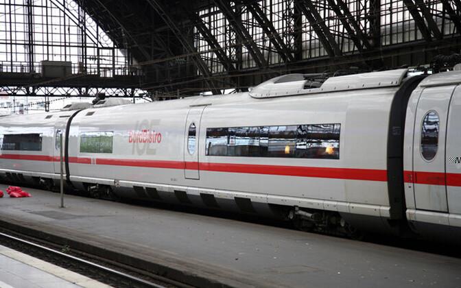 Поезд в Германии.