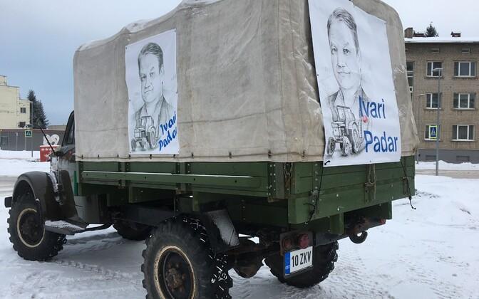 Ivari Padari pildiga uunikumauto Võrus