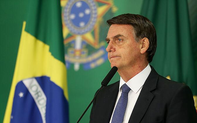 Brasiilia president Jair Bolsonaro.