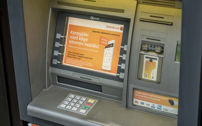 A Swedbank cash machine.