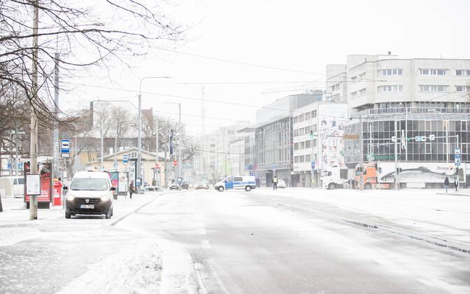 В Таллинне в течение дня возможна метель.