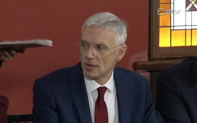 Latvian Prime Minister Kariņš.