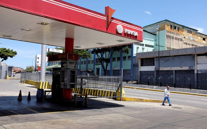 PDVSA tankla Caracases.