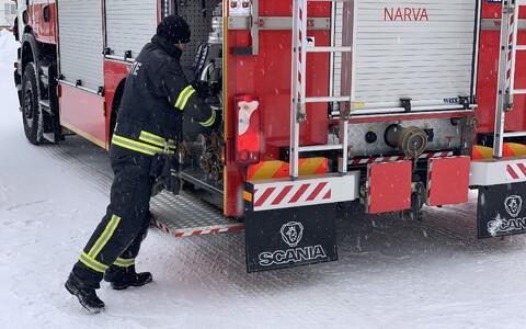 Пожар в Нарве.
