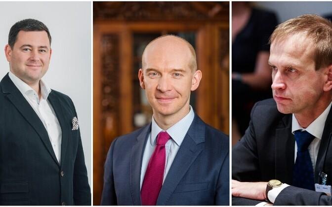 Кандидаты на пост президента Банка Эстонии: Роберт Китт, Мадис Мюллер и Мяртен Росс.