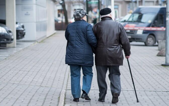 Pensioners in Tallinn.