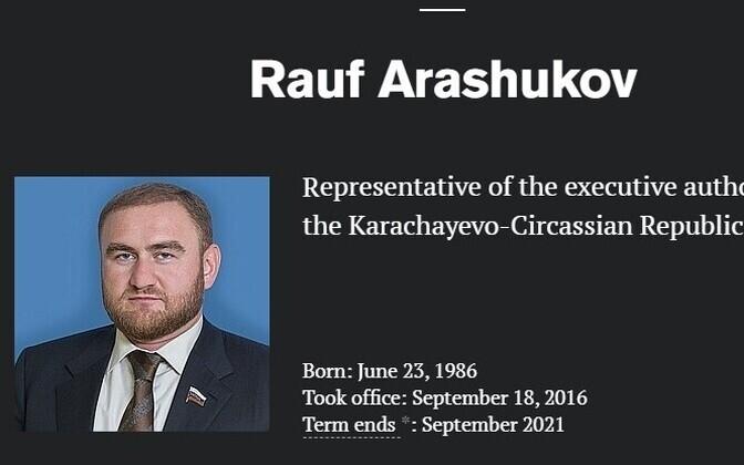 Venemaa föderatsiooninõukogu liige Rauf Arashukov.