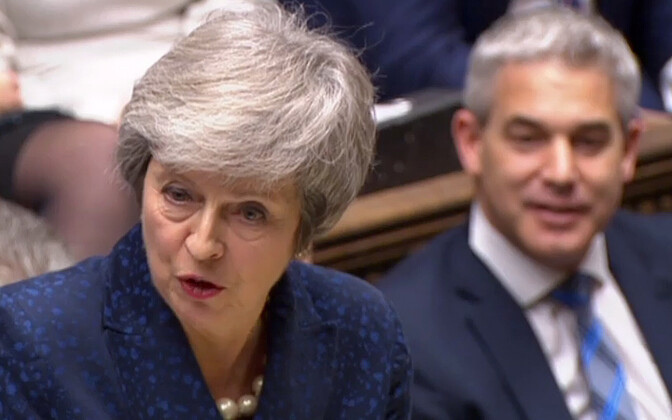 Peaminister Theresa May ja Brexiti-minister Stephen Barclay.