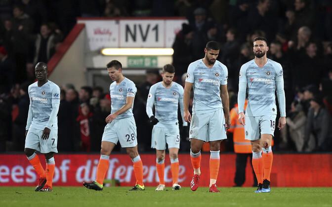 Löödud Chelsea mängijad Bournemouthis