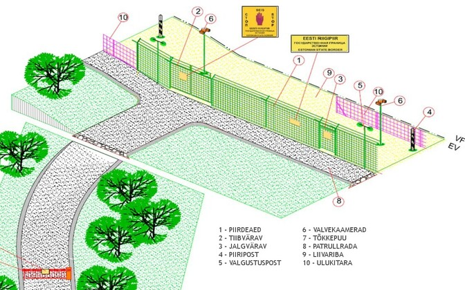 Эскизный проект восточной границы.